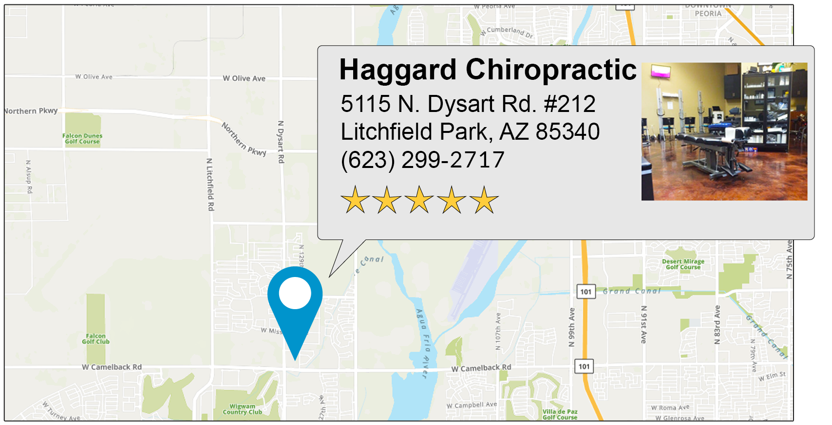 Haggard Chiropractic's Litchfield Park office location on google map