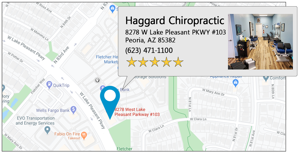 Haggard Chiropractic's Peoria office location on google map