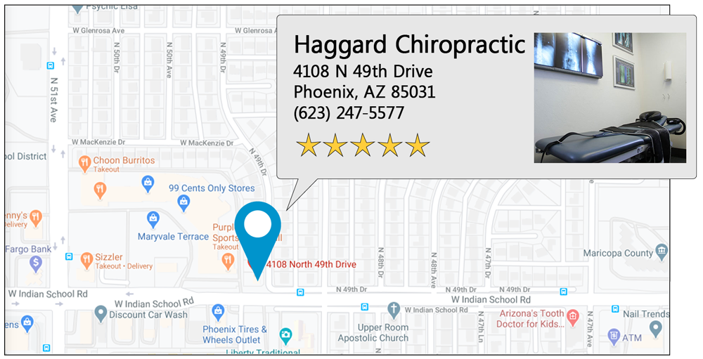Haggard Chiropractic's Phoenix office location on google map