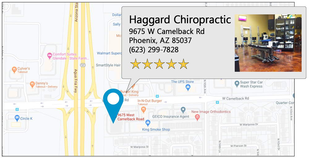 Haggard Chiropractic's West Phoenix office location on google map