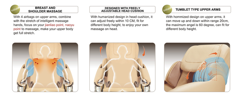 massage chair shoulder mechanisms at Haggard Chiropractic
